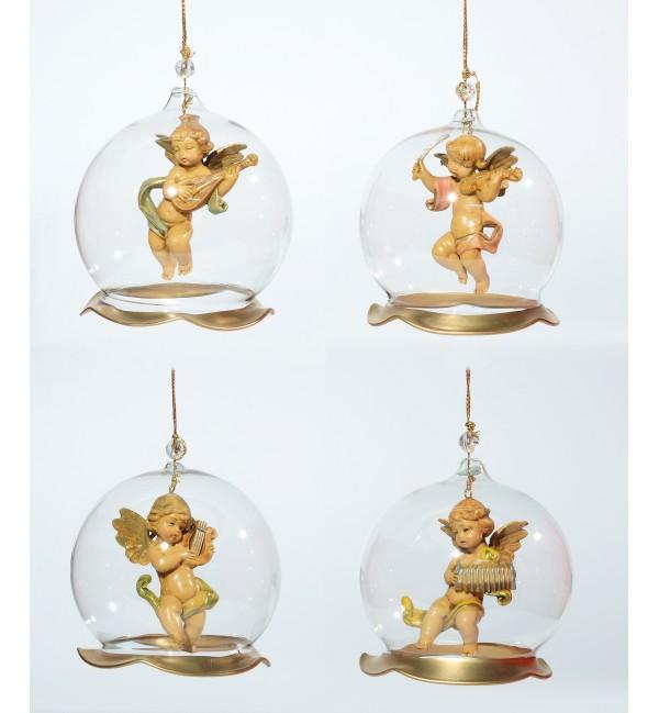 2991716cdb1 Surtido 4 adornos de vidrio soplado para colgar (V1) 8 cm. - Adornos ...