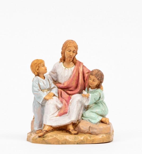 Cristo con niños (592) 12 cm.