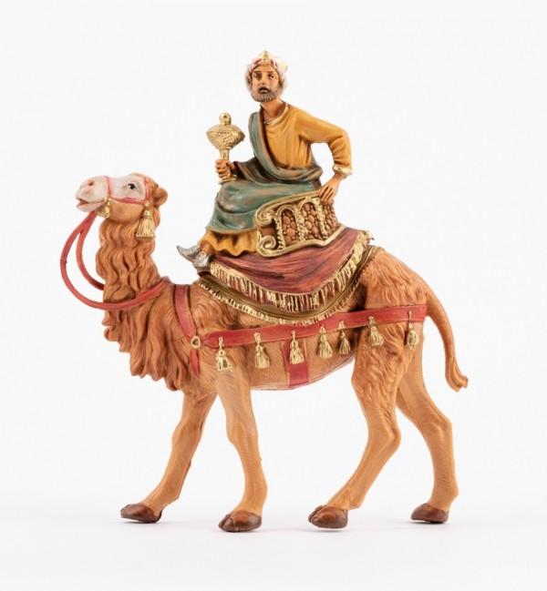 Rey montando un camello (2) para belén 10 cm.