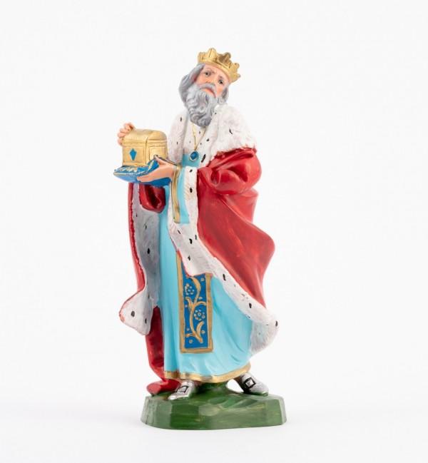 Rey (302) para belén en color tradicional, 19 cm.