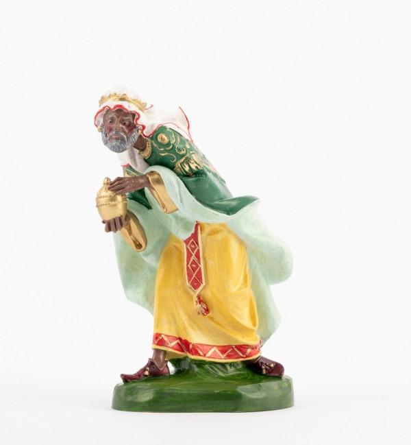 Rey (303) para belén en color tradicional, 19 cm.