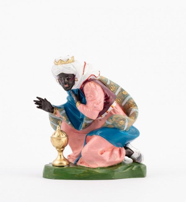 Rey (304) para belén en color tradicional, 19 cm.
