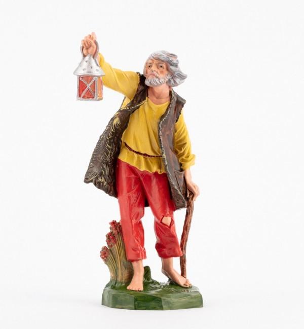 Pastor (316) para belén en color tradicional, 19 cm.