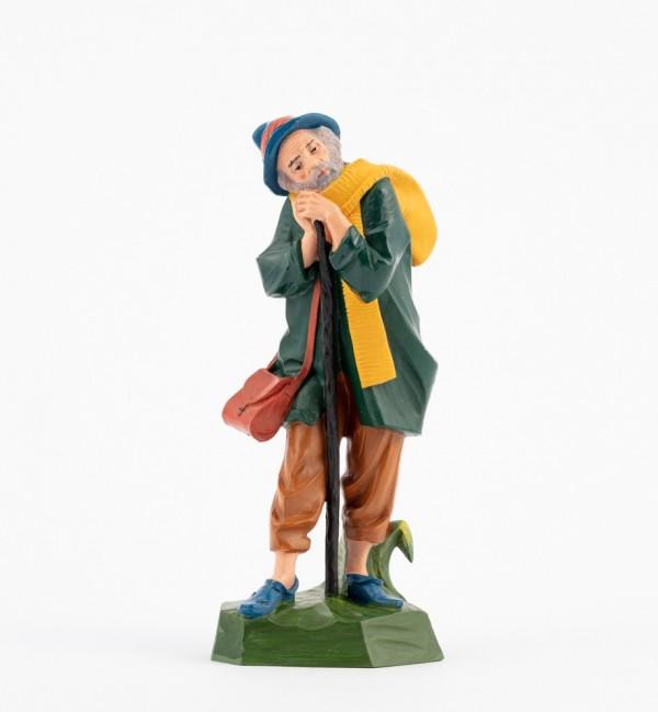 Pastor (320) para belén en color tradicional, 19 cm.