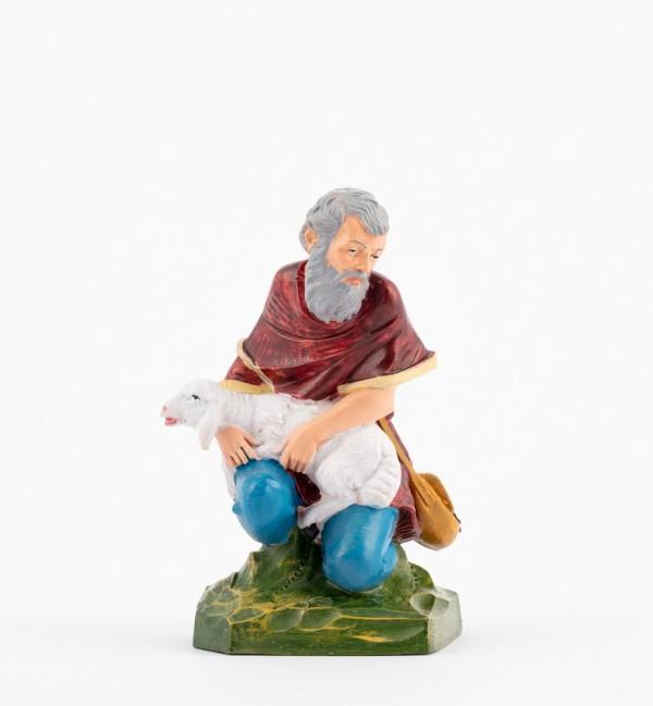 Pastor (321) para belén en color tradicional, 19 cm.