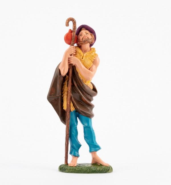 Pastor (341) para belén en color tradicional, 19 cm.