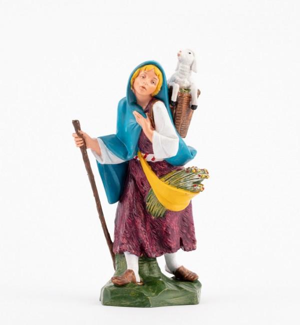 Pastorcita (350) para belén en color tradicional, 19 cm.