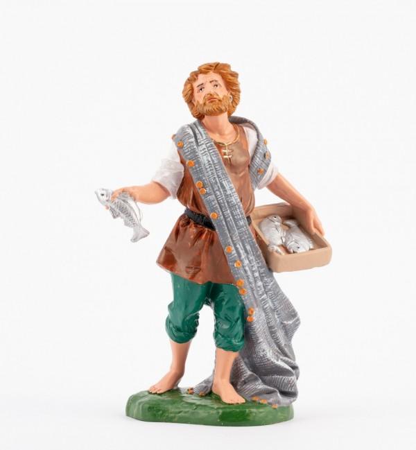 Pastor (353) para belén en color tradicional, 19 cm.