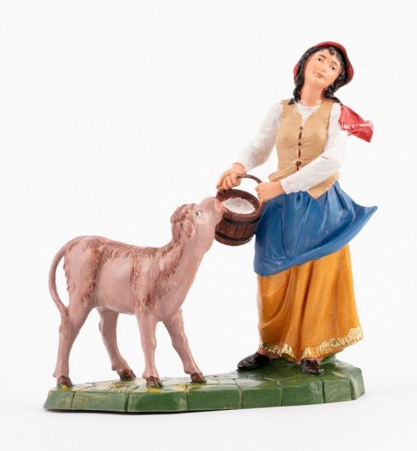 Pastorcita (362) para belén en color tradicional, 19 cm.