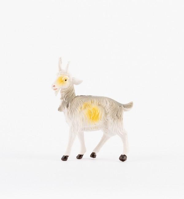 Cabra para belén en color tradicional, 19 cm.