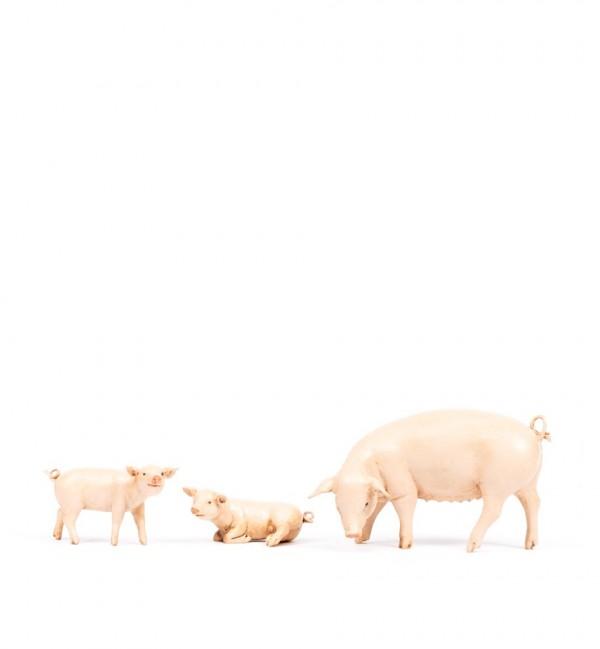 Familia de cerdos para belén 19 cm.