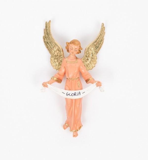 Ángel de la gloria para belén en color tradicional, 19 cm.