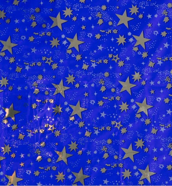 Rollo de cielo estrellado oro 100x70 cm.