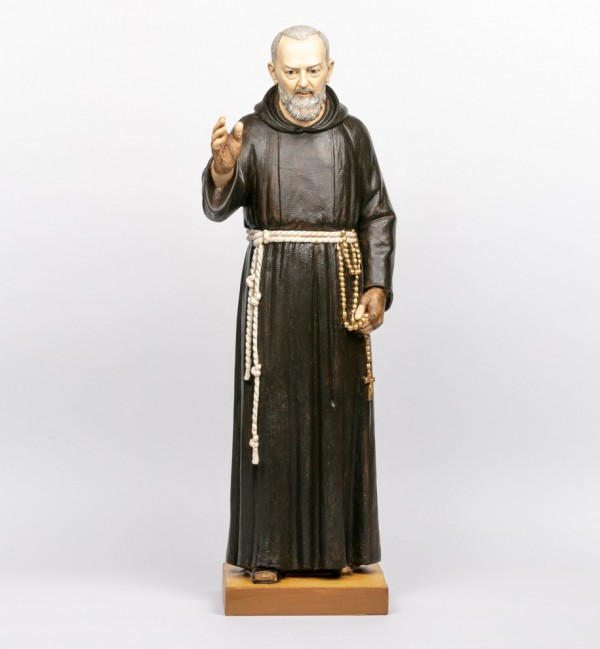 Padre Pío de resina  100 cm