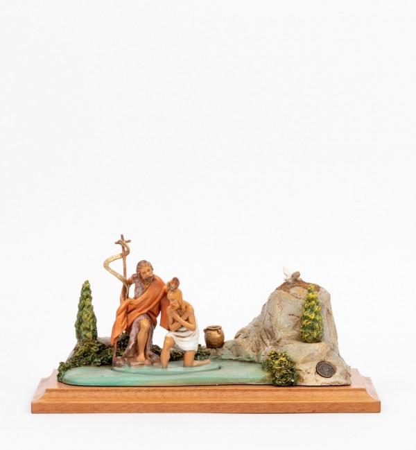 Ambientación Bautismo de Jesús con figuras 12 cm
